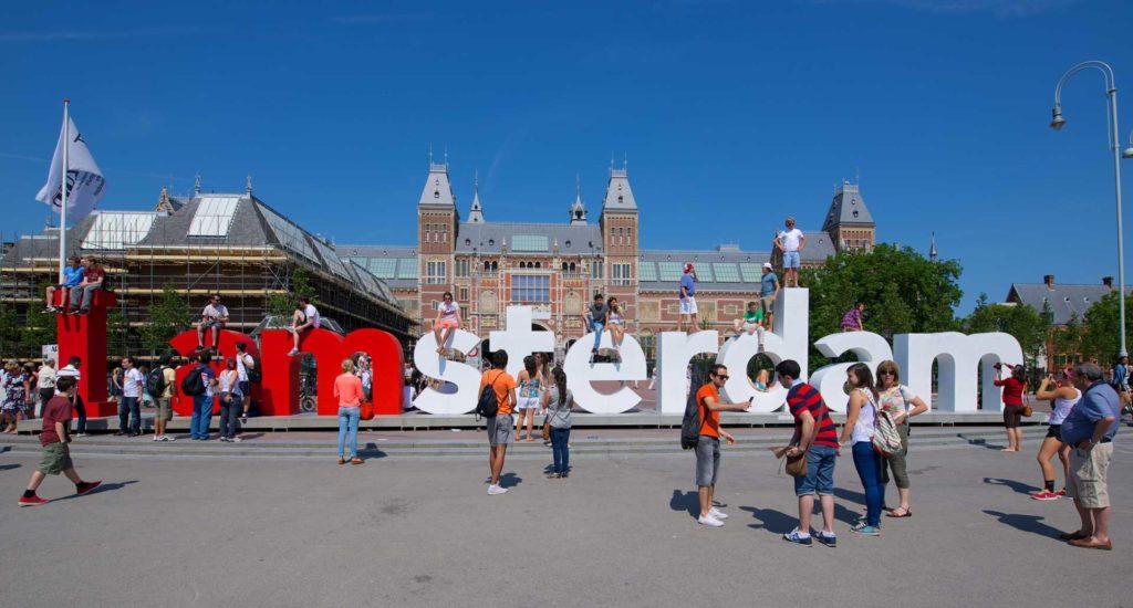 Wandelen door Amsterdam